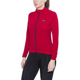 De Marchi Training Koszulka kolarska, długi rękaw Kobiety czerwony